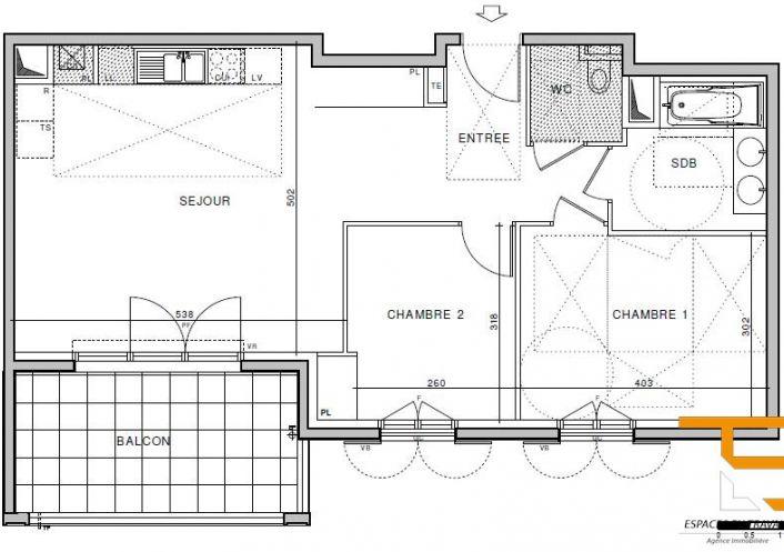 A vendre Appartement neuf Aix En Provence   Réf 1303342 - Espace en travaux
