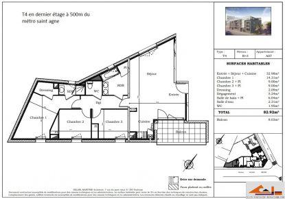 A vendre Toulouse 310791630 Sud espace immobilier