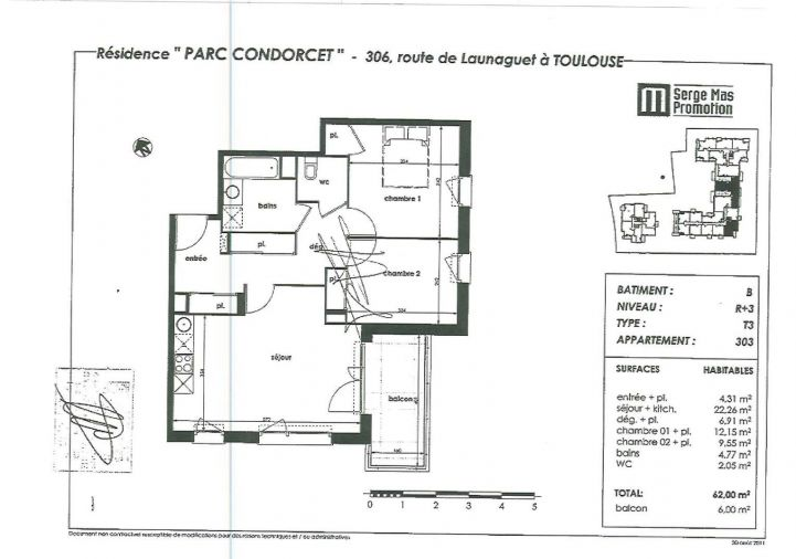 A louer Appartement Toulouse   Réf 31112352 - Inexia