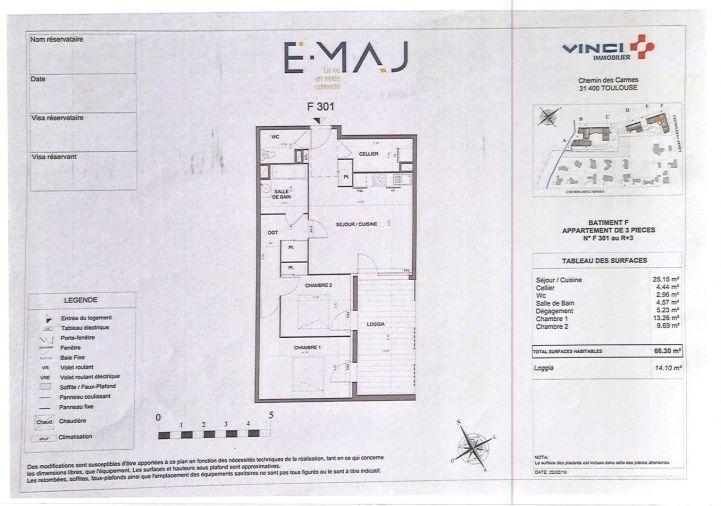 A louer Appartement Toulouse   Réf 31112353 - Inexia