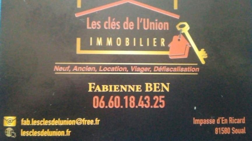 A vendre Aiguefonde 31185142 Les cles de l'union