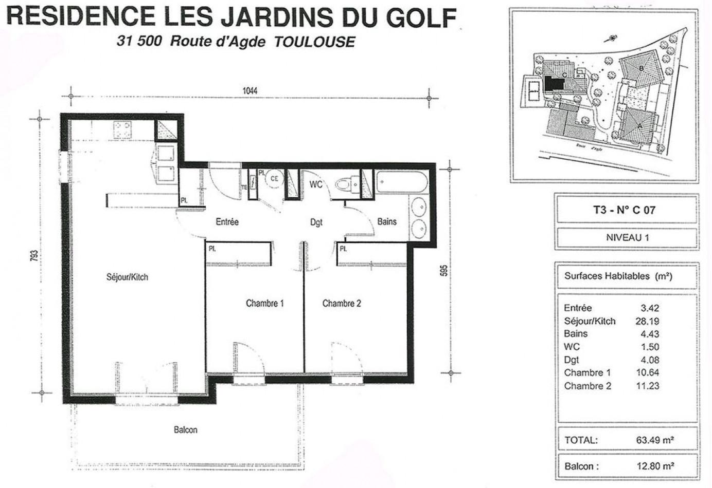 A louer  Toulouse   Réf 31194171 - Jcb immo
