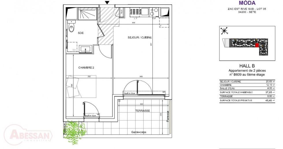 A vendre  Sete | Réf 34070121350 - Abessan immobilier