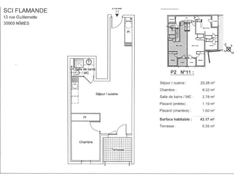 A louer Nimes 3432562035 Thélène immobilier