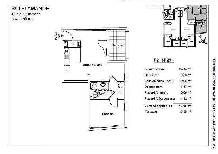 appartement en location nimes thlne immobilier. Black Bedroom Furniture Sets. Home Design Ideas