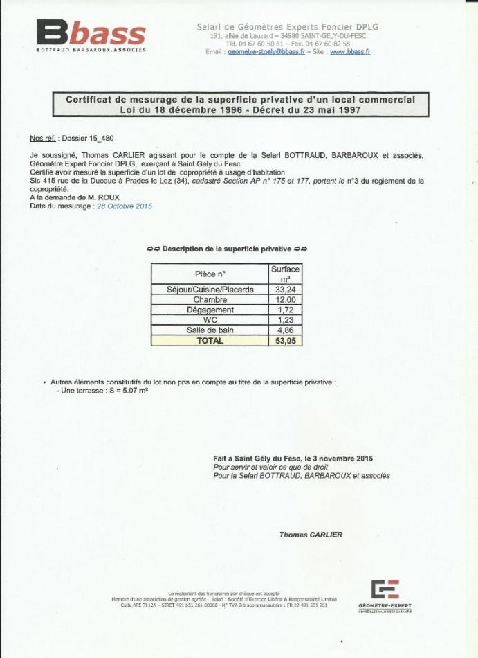 A vendre Prades Le Lez 3438025499 Comptoir immobilier de france