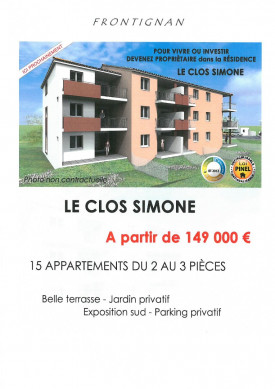 A vendre Frontignan 3448951 Agence couturier