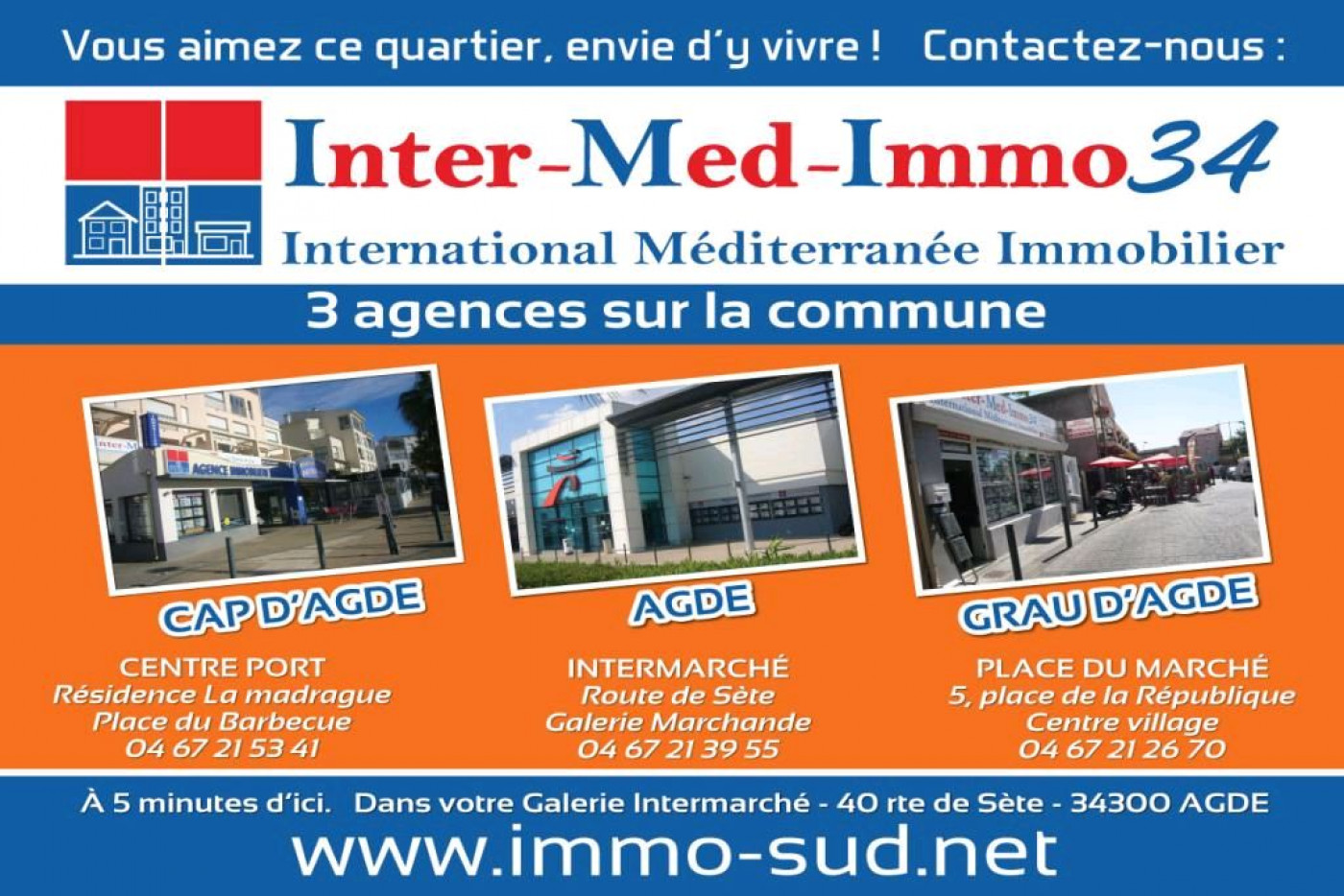 A vendre Le Grau D'agde 3458231228 Inter-med-immo34