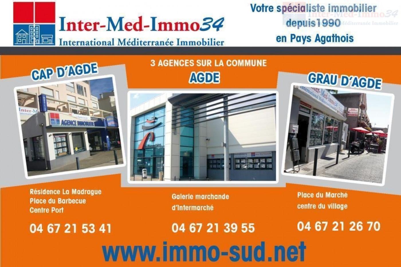 A vendre Le Cap D'agde 3458243131 Inter-med-immo34
