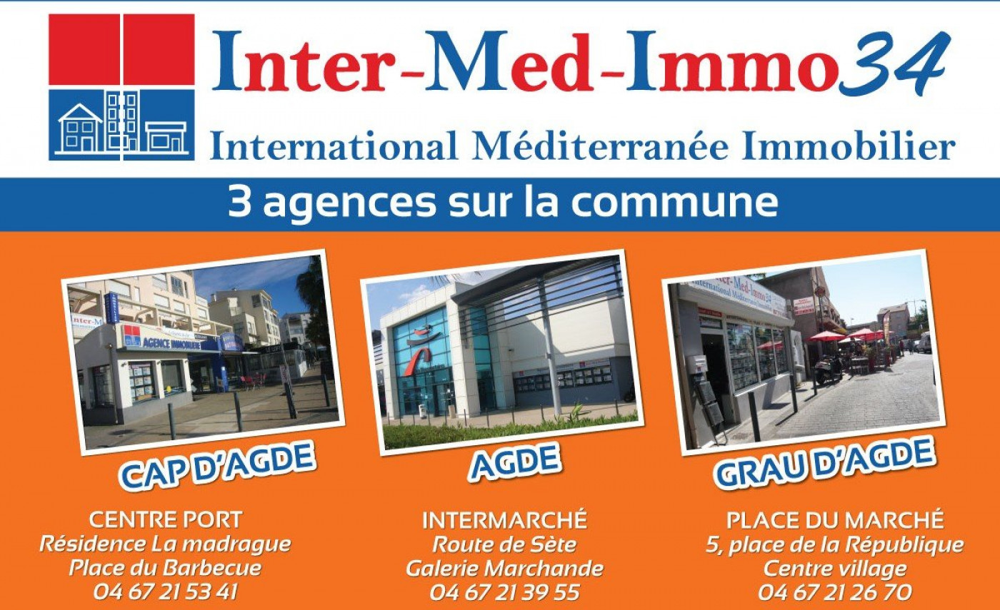 A vendre Le Grau D'agde 3458343026 Inter-med-immo34