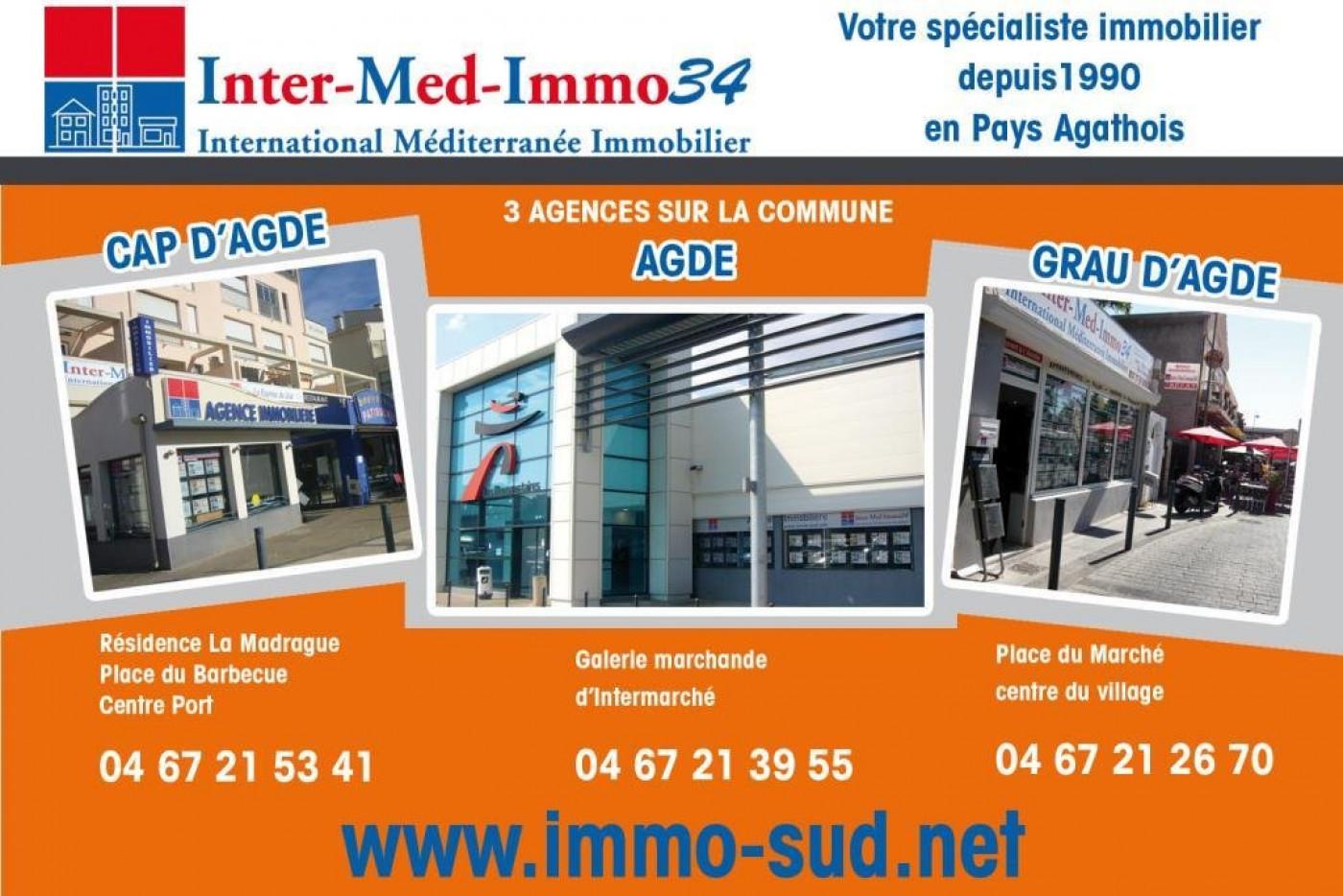 A vendre  Le Grau D'agde   Réf 3458343332 - Inter-med-immo34