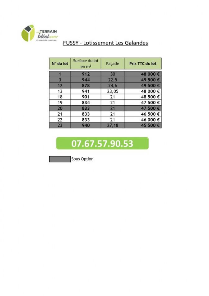 A vendre  Fussy | Réf 360021004 - Mon terrain ideal