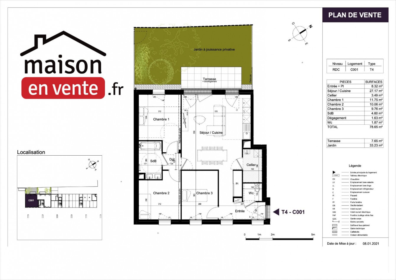 A vendre  Saint Jean De Monts   Réf 44014219 - Maisonenvente.fr