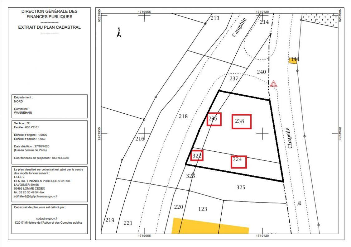 A vendre Terrain constructible Wannehain   R�f 59014198 - Lions habitat