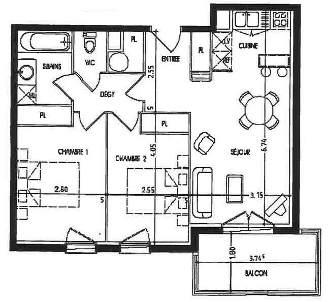 appartement-T3-pontonx sur l'adour,40-photo1
