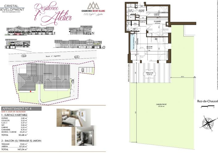 A vendre Appartement neuf Chamonix Mont Blanc | Réf 7302368 - Propriété des alpes