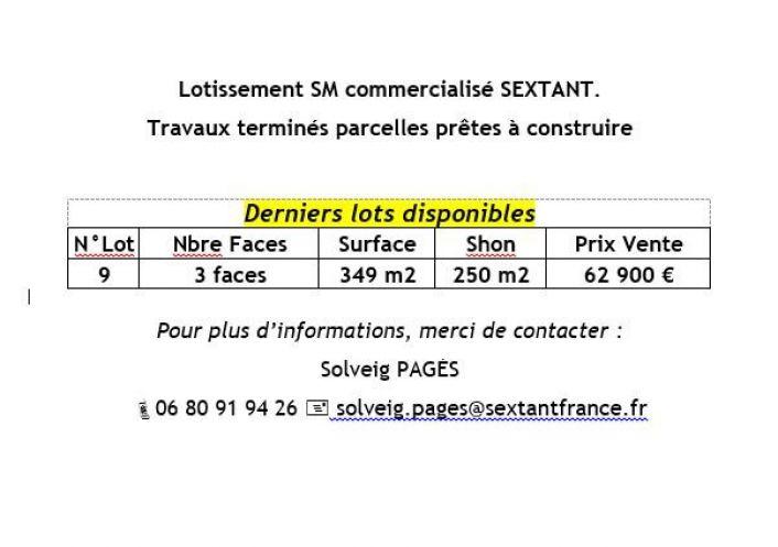 A vendre Terrain constructible Vinca   Réf 75011111782 - Sextant france