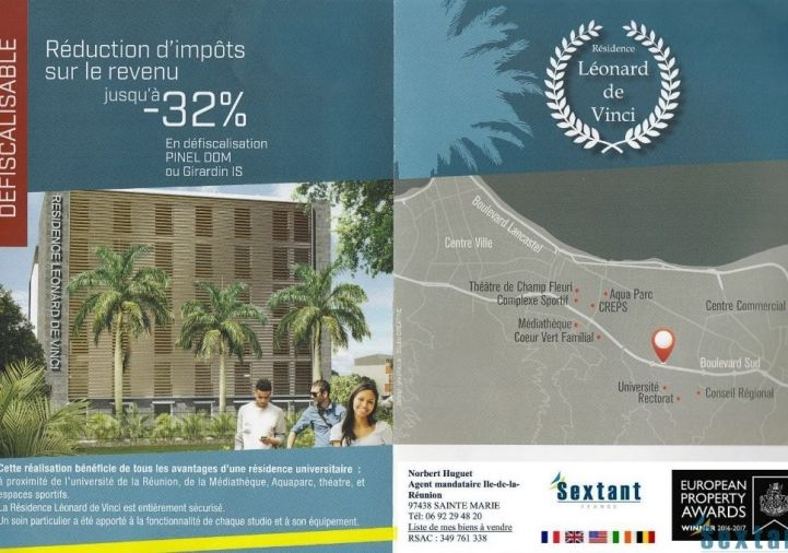 A vendre Sainte Clotilde 7501142300 Sextant france