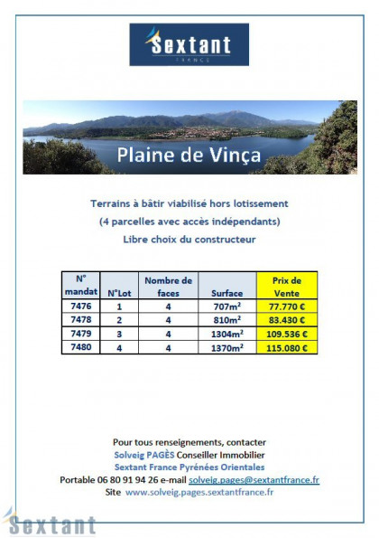 A vendre Vinca 7501153487 Sextant france