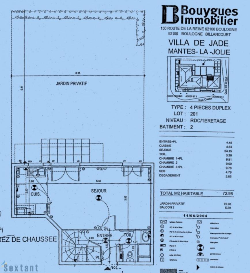 A vendre Mantes La Jolie 7501170915 Sextant france