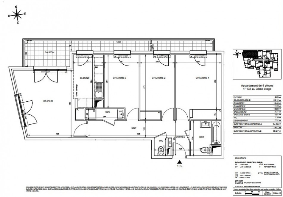 plan appartement 85 m2