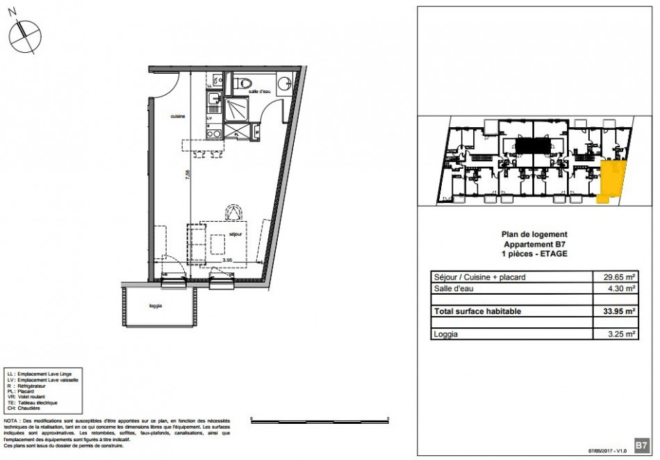 plan appartement 34m2
