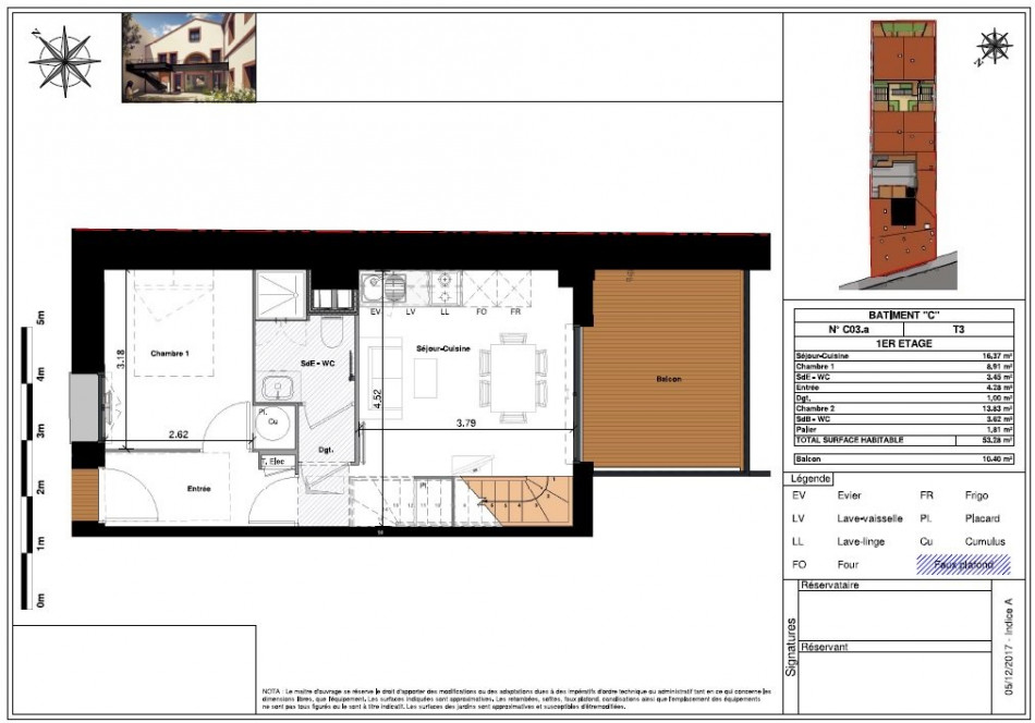 plan appartement 53m2
