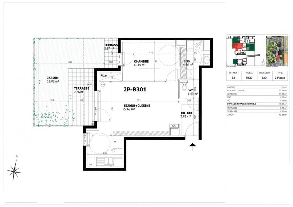 achat appartement t2 2 pieces 49m2 creteil n 37. Black Bedroom Furniture Sets. Home Design Ideas