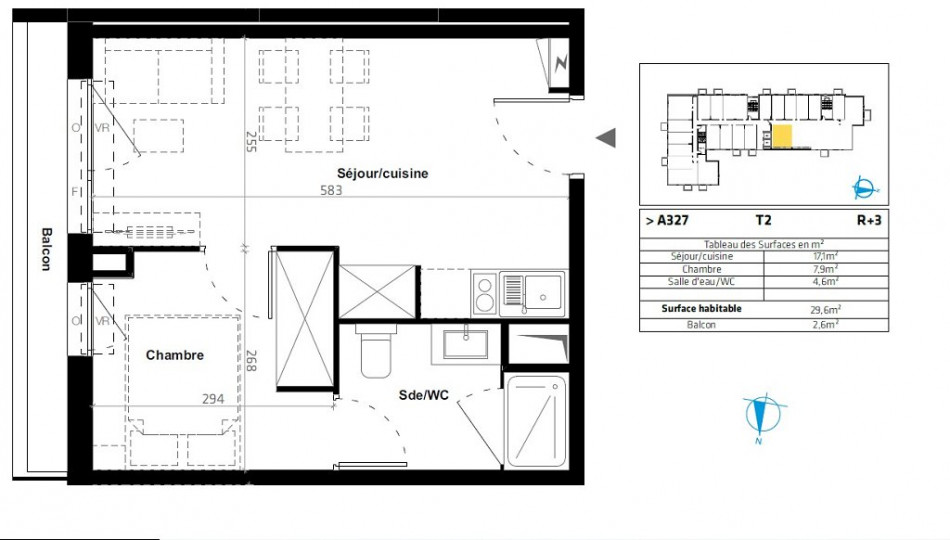 plan appartement t2 30m2