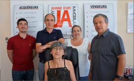 5 commerciaux avec une connaissance poussée du marché sur le secteur de vichy Vichy jeanne d'arc immobilier