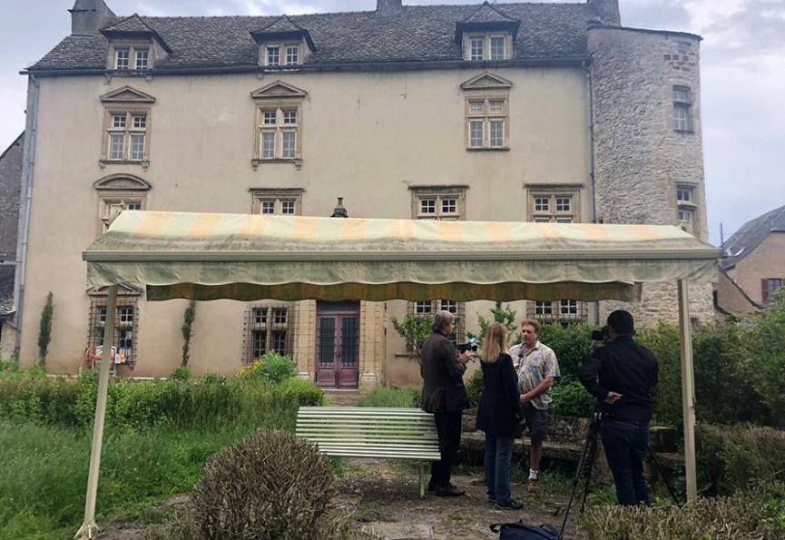 Reportage avec journal tv suisse Selection habitat