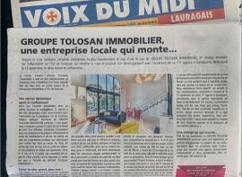 La voix du midi parle du groupe tolosan immobilier Mds immobilier montrab�