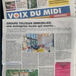 La voix du midi parle du groupe tolosan immobilier Mds immobilier montrabé