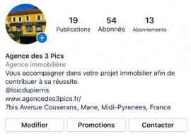 Rejoignez-nous sur instagram ! Agence des 3 pics