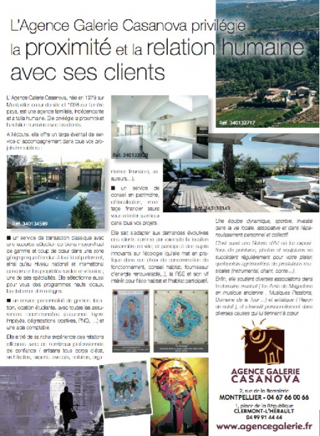 Article prestige et caract�re �t� 2016 Agence galerie casanova