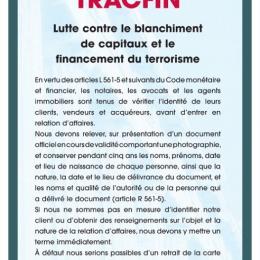 Dispositif tracfin - obligation des agences immobilières Lamalou immobilier