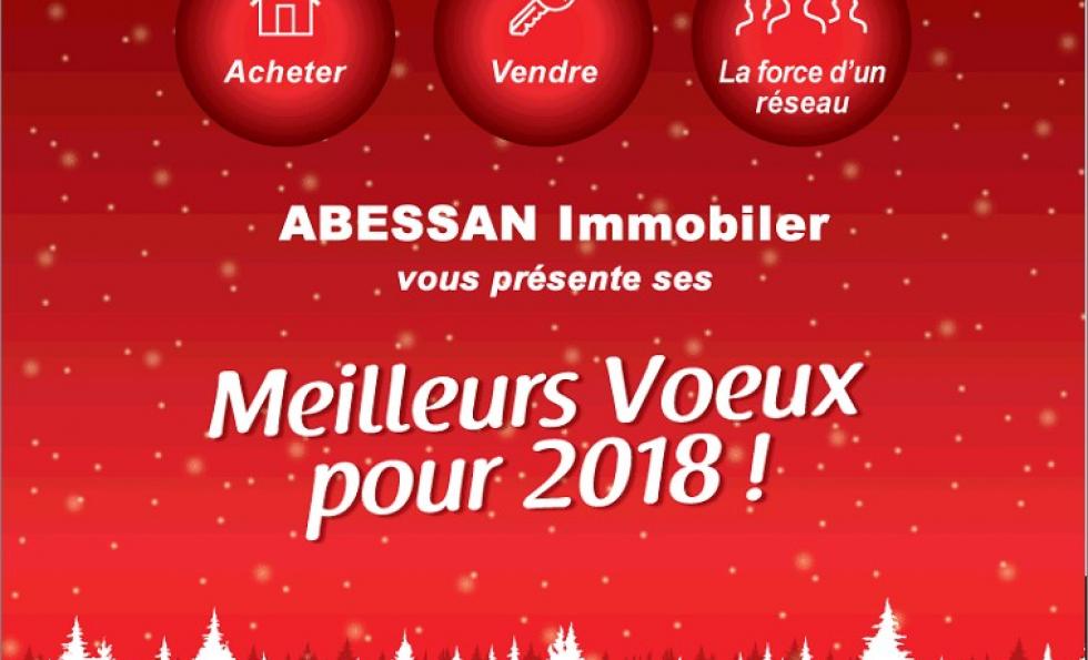 Abessan vous présente tous ses voeux pour 2018 Abessan immobilier