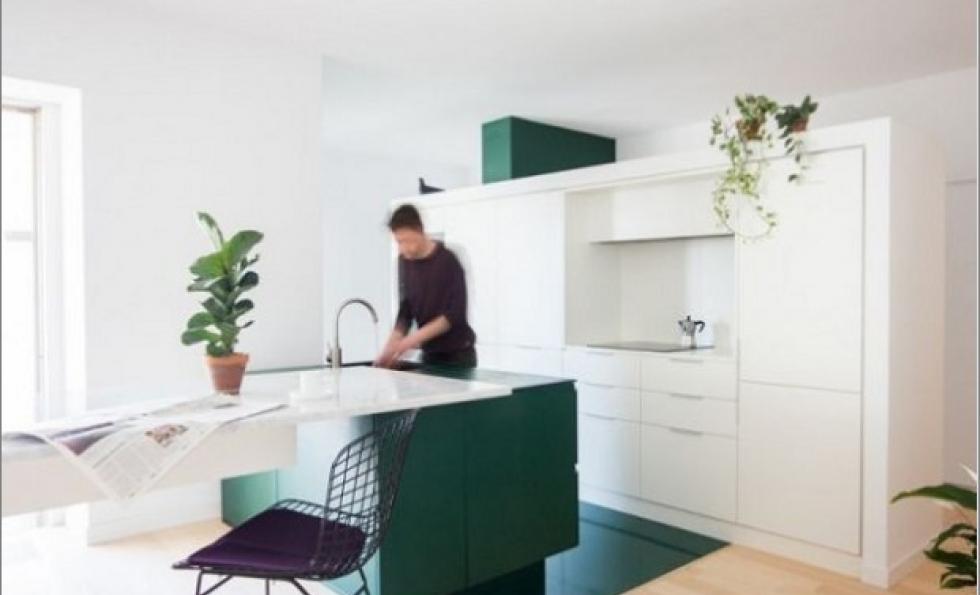 Cet appartement change de visage grâce à une nouvelle cuisine . Abessan immobilier