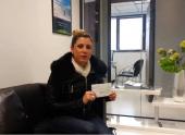 Melle salambier a gagné 1 000€ grace à kevin naert S'antoni immobilier agde