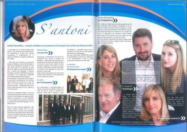 Article de cecile fiorentino paru dans la revue hérault tribune S'antoni immobilier