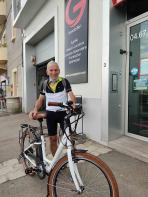 Concours : le gagnant a récupéré son vélo électrique Groupe gesim