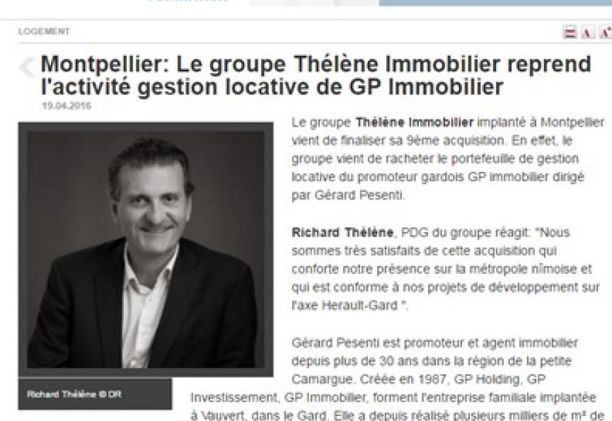 [parution presse] Thélène immobilier