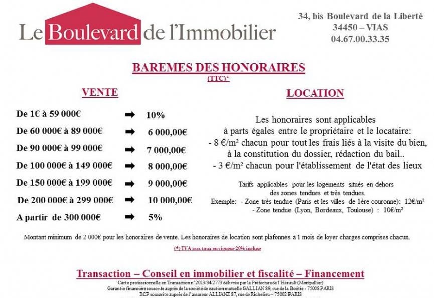 Nos tarifs Le boulevard de l'immobilier