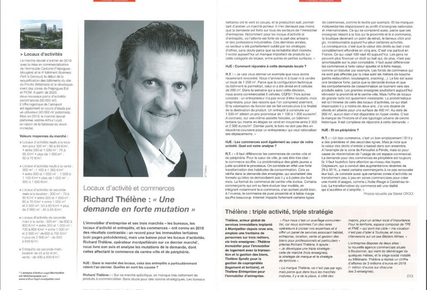 Interview richard thélène Immobilier entreprises