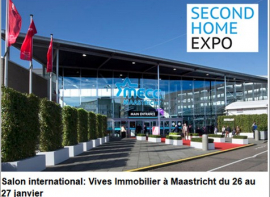 Vives immobilier présent à maastricht (hollande) au second home expo Vives immobilier