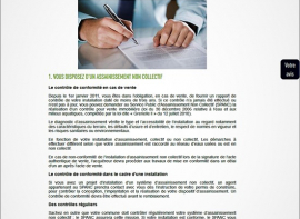 Régementation certificat de conformité du raccordement eaux usées Inter-med-immo34 - prestige