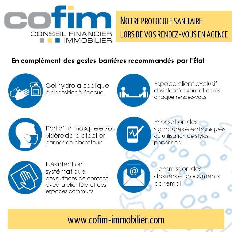 protocole sanitaire les rendez-vous en agence immobilière COFIM