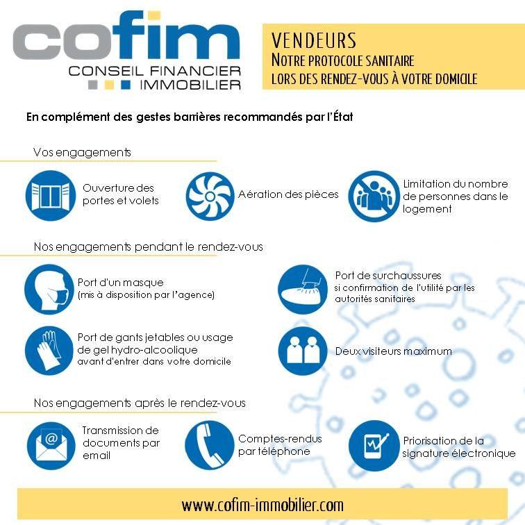 protocole sanitaire COFIM pour les vendeurs lors d'une estimation immobilière