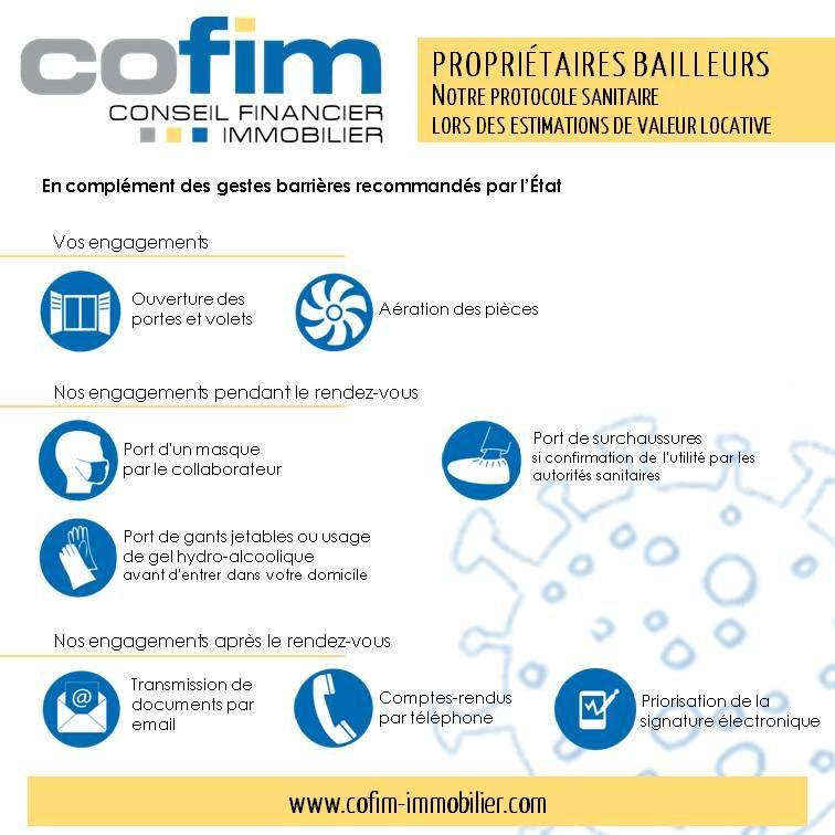 protocole sanitaire COFIM pour les propriétaires bailleurs lors d'une estimation de valeur locative