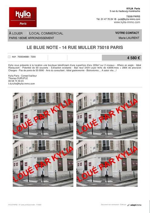 Une nouvelle affaire louée par kylia paris Kylia immobilier